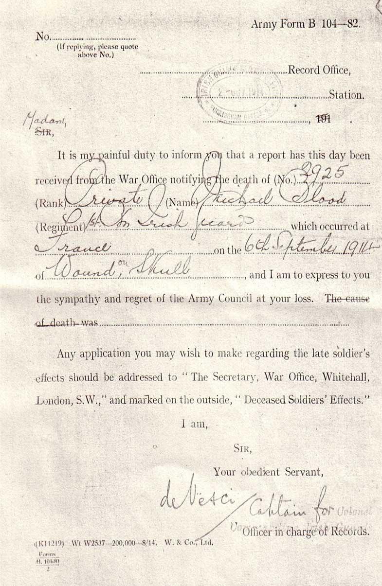 Army-Form-B-Michael-Blood