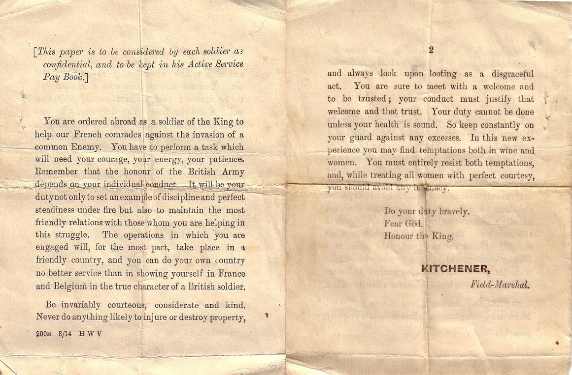 Field-Marshal-Letter